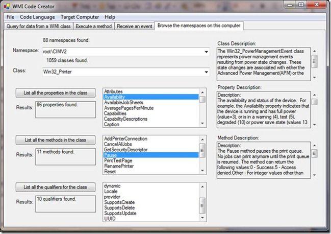 Two Minute Drill: WMI Code Creator - Microsoft Tech Community - 374512