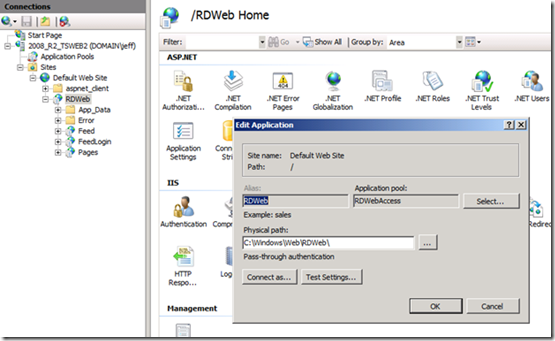 Modifying the default RDWebAccess web page for fun and