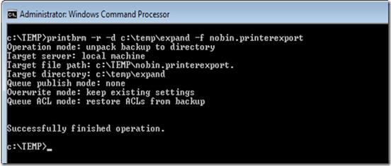printbrm.exe server 2003