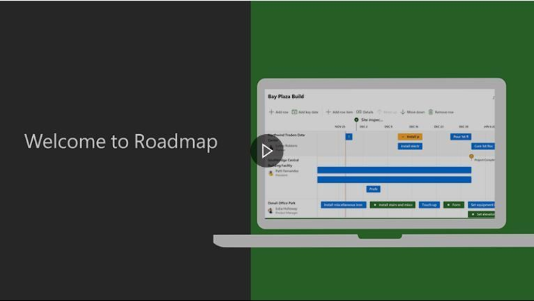 Screenshot of the Roadmap video landing page