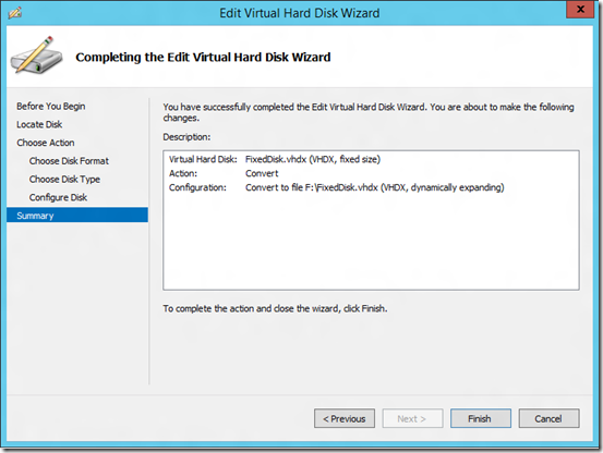 Replicating fixed disks to dynamic disks in Hyper-V Replica