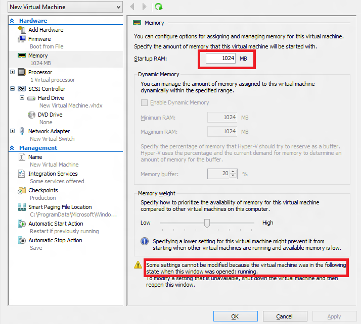When to use Hyper-V Dynamic Memory versus Runtime Memory Resize