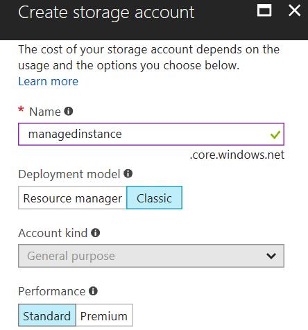 Configure Azure Storage for SQL Database backups