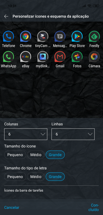 ML 5.3 - 6x6 icon setting with large icon size