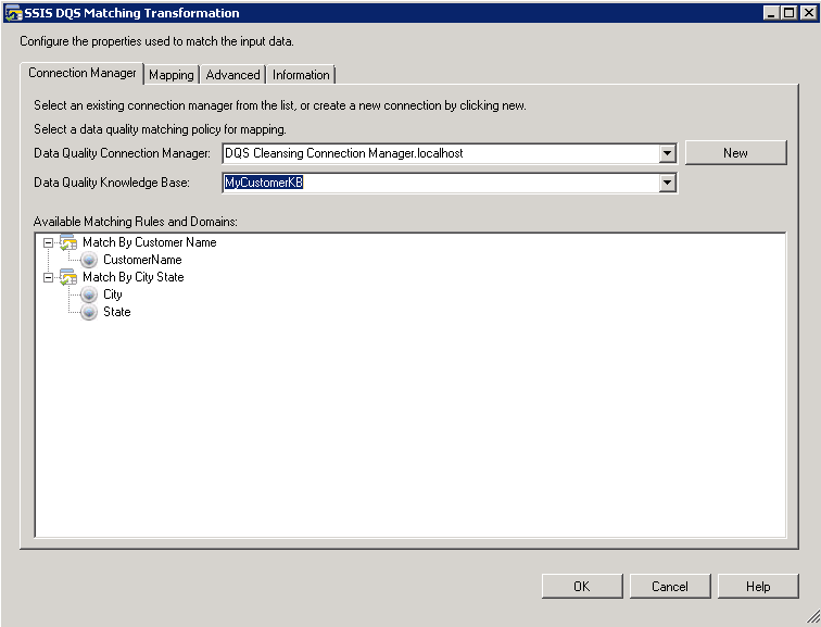 Automating the data matching process in SQL Server Data Quality