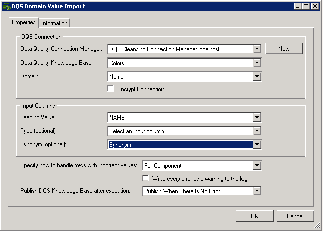 Configuring SSIS DQS Domain Value Import - Microsoft Tech