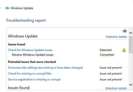 Windows Update - Error Encountered - Microsoft Tech