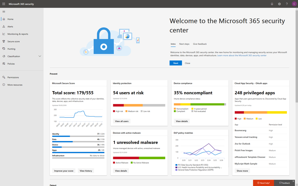 Blog 01 - Microsoft 365 Security Center Reaches General Availability - Final - Image 01.png