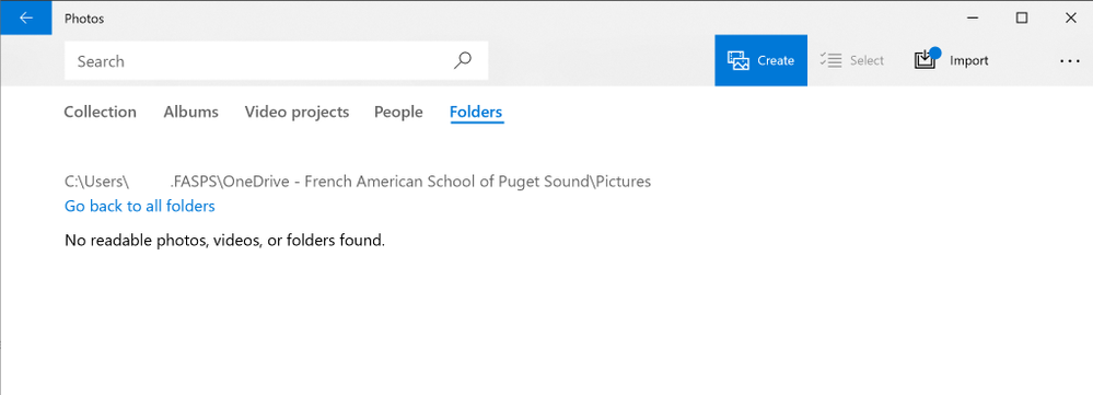 Windows 10 Photos app not seeing Files on Demand pictures