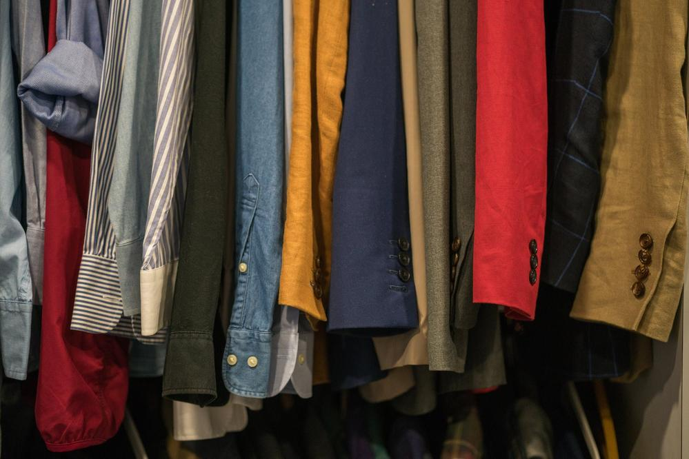 Clothes are the first category that Marie Kondo focuses on.