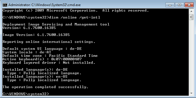microsoft windows nt advanced server 6.1 sccm