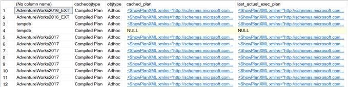 sys.dm_exec_query_plan_stats from cached plans