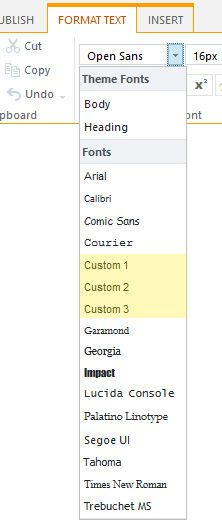 Issue adding custom fonts in to font picker in ribbon