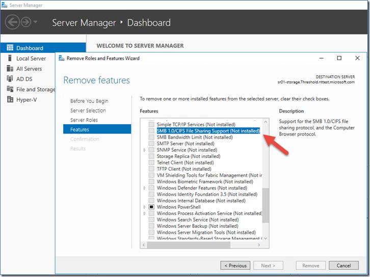 Stop using SMB1 - Microsoft Tech Community - 425858