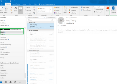 outlook customer manager not shown to non o365 account microsoft