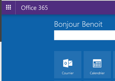 Office 365 home page / main menu background color always blue ...