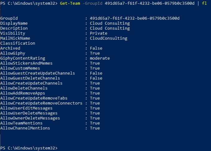 Microsoft Teams PowerShell Module General Availability