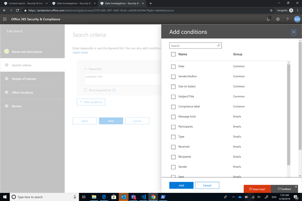 Data investigation capabilities in Office 365 in Public Preview