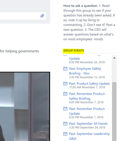 Can we post Live-Stream Recording on Yammer to watch on-demand