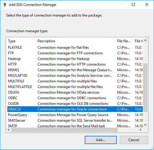 attunity ssis oracle connector v1.1
