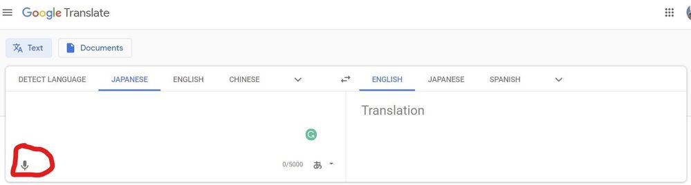 Edge can't use the mic in the Google Translate page - Microsoft Tech