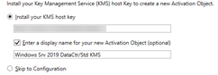 KMS Activation in Windows Server 2019