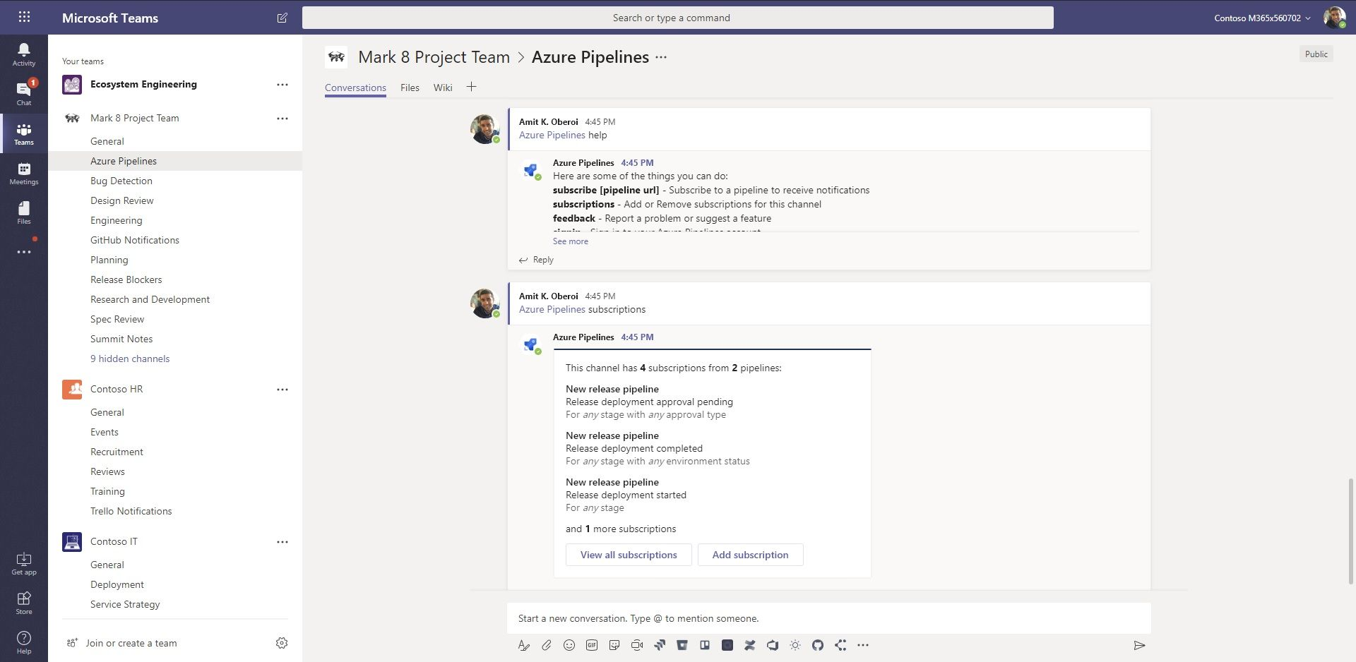 New! Azure Pipelines app for Microsoft Teams - Microsoft Tech