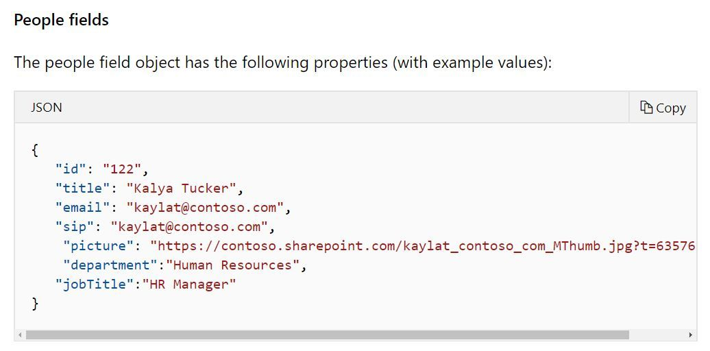 Column conditional format with Json to display attention
