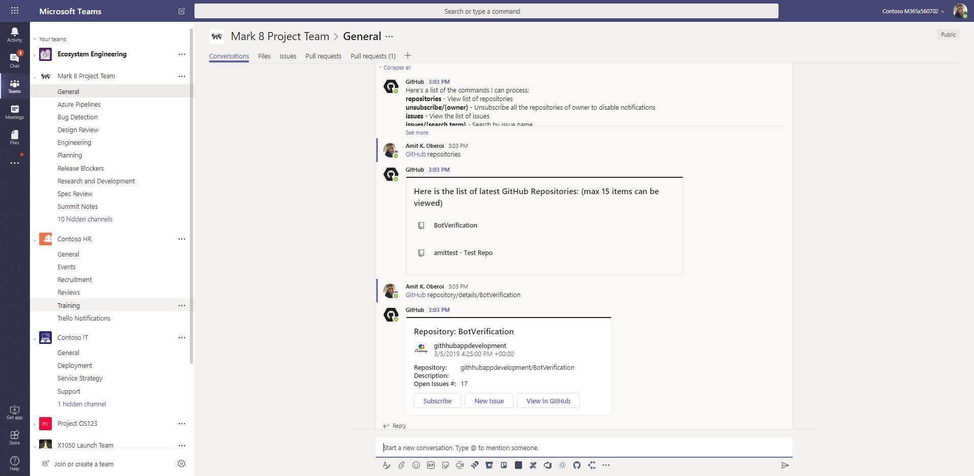 GitHub! Code better together with GitHub and Microsoft Teams
