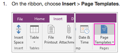Changing Template for headings + bullet points (OneNote