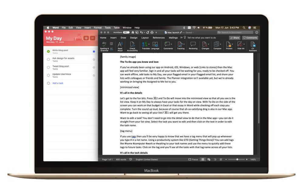 Check off your tasks with Microsoft To-Do for Mac, now