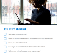 The playbook contains everything you need to know to create and manage an event