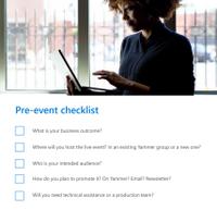 Pre-event checklist