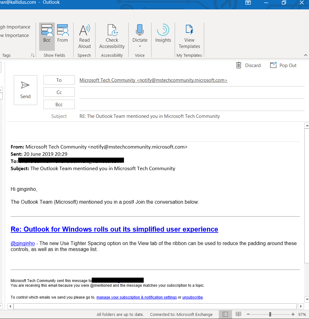 Outlook for Windows rolls out its simplified user experience