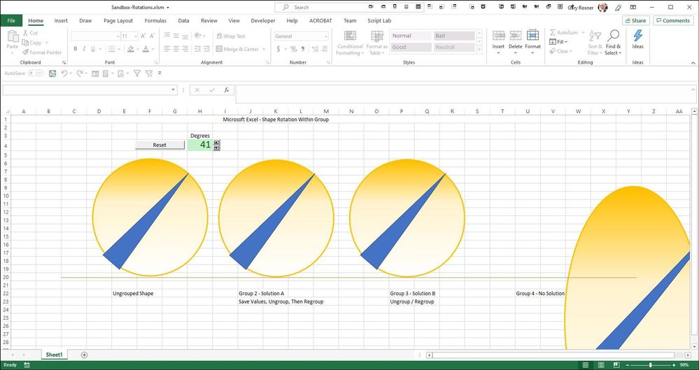 Excel VBA - Rotate while Zoom = 98%