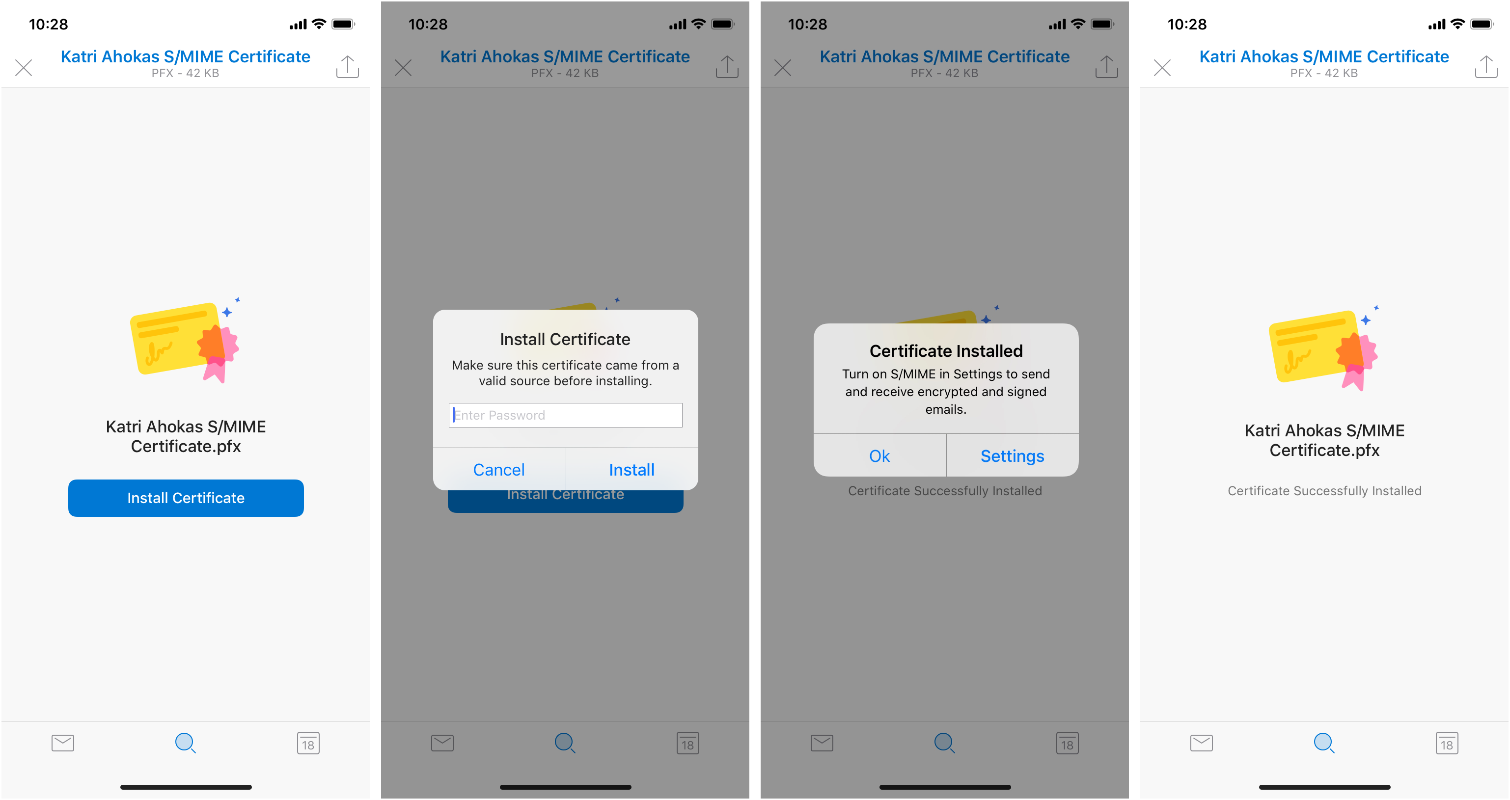 S/MIME functionality available in Outlook for iOS TestFlight