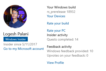 Successfully Installed Windows 10 Insider Preview Build 18932 1000