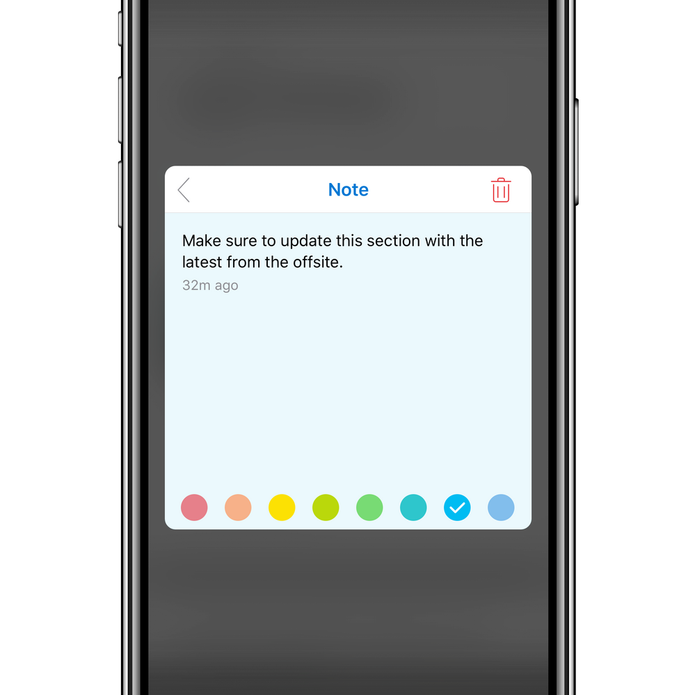 Notes are now lightweight and easy to customize with native color picker