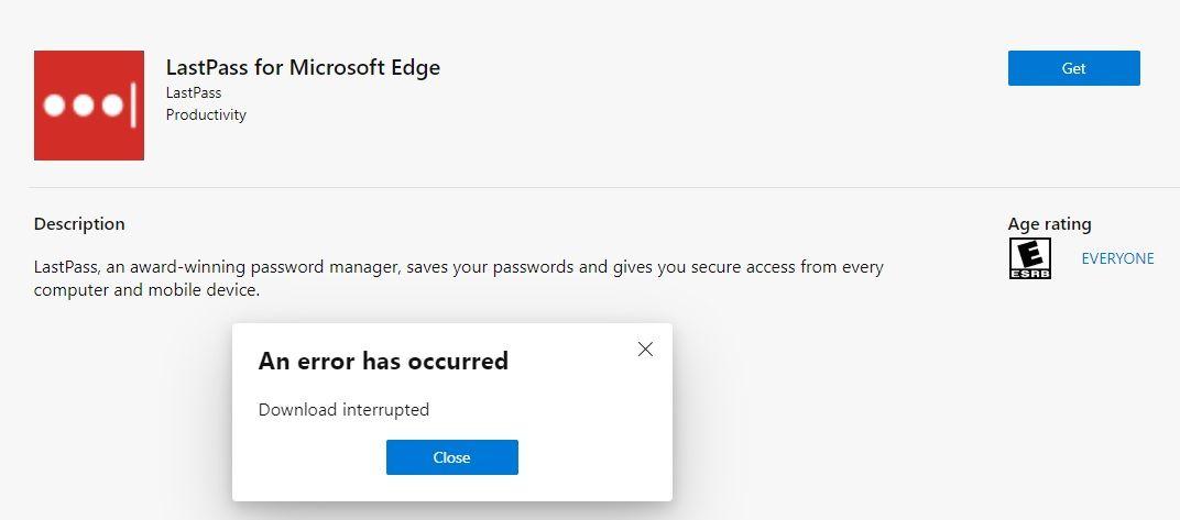 New Extension problem - Microsoft Tech Community - 674662