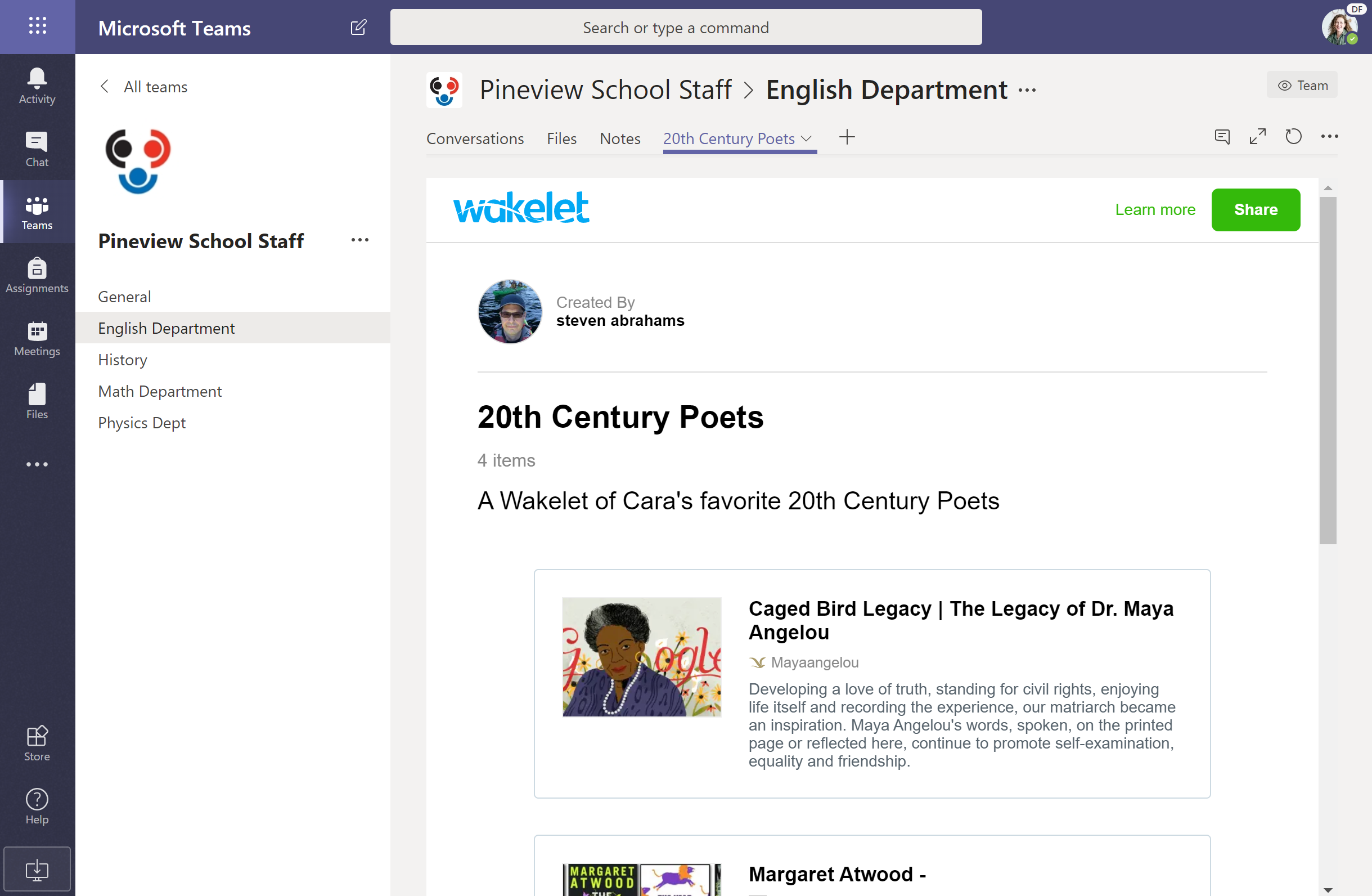 Save, organize and share with the Wakelet app now available in Microsoft Teams!