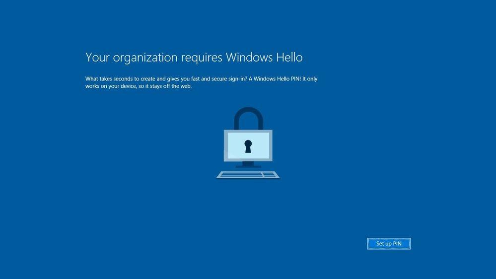 Windows PIN Setup at Startup