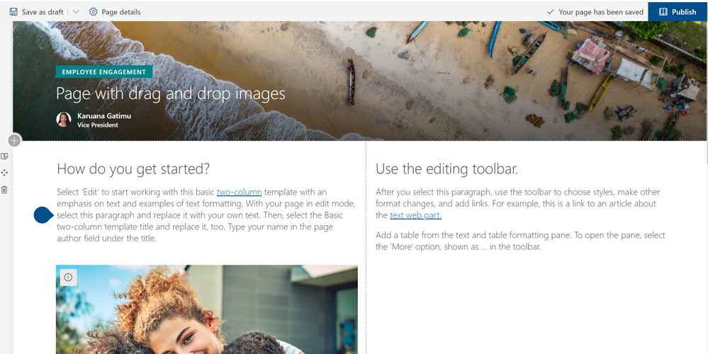 August 2019 – Updates to SharePoint page and news authoring