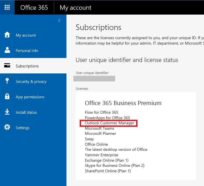 Re minimum version for outlook customer manager microsoft tech go to the office 365 mail settings publicscrutiny Images