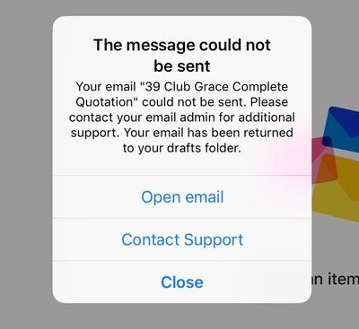 Outlook for iOS: cannot load or send attachments - Microsoft