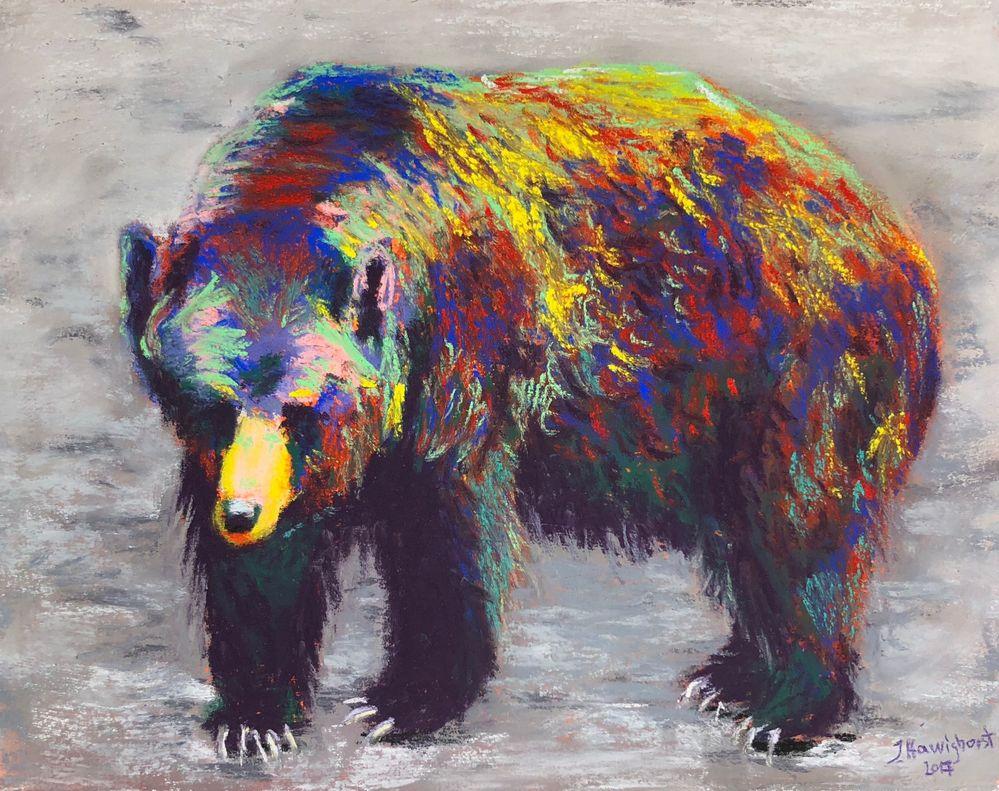 Ingeborg_PaintingBear.JPG