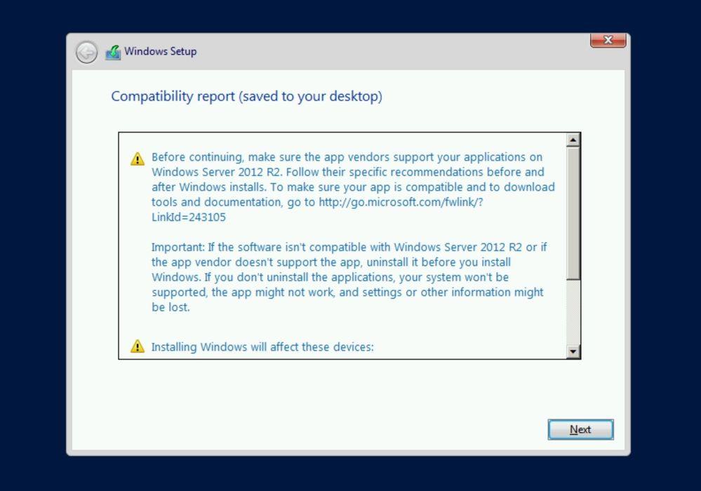 Windows Server 2012 R2 Compatibility report.jpg