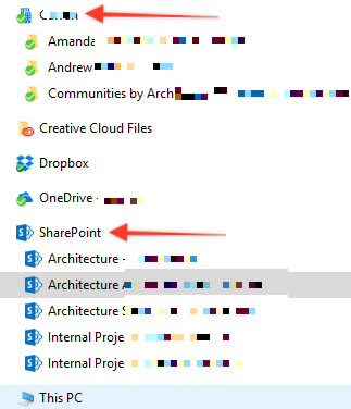 Sharepoint Sync vs OneDrive Sync to Computer - Where do