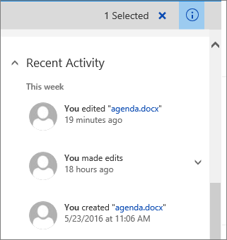 View file activity such as adding, deleting, and editing in a document library to be sure things are on track. You can see file activity for a single item, or an overview of all activity in a document library.