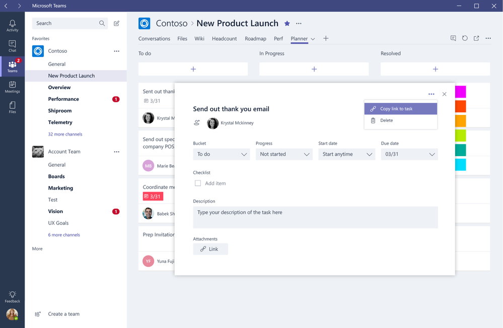 Introducing Planner deep linking to Teams.