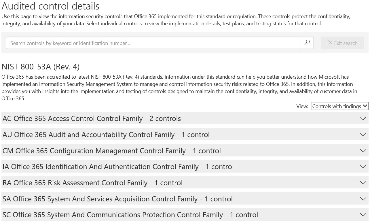 Released: Office 365 Audited Controls for NIST 800-53 - Microsoft
